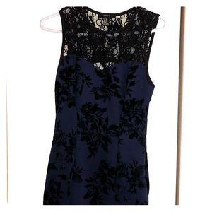 dark blue mini homecoming dress